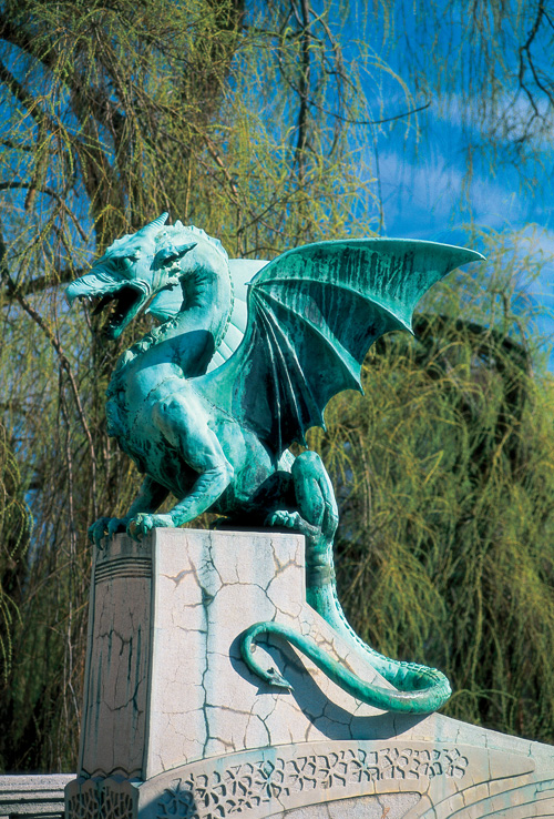Dragon - the symbol of Ljubljana(Author -  J. Skok)