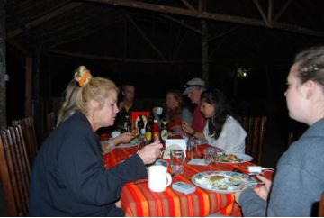Enchoro Wildlife Camp feast