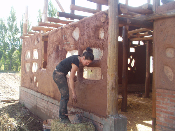 Eco Hostel Malargue in construction