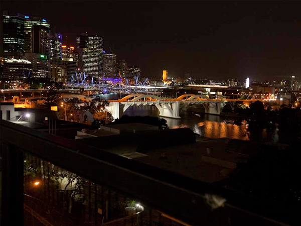 Brisbane City YHA Rooftop Night view