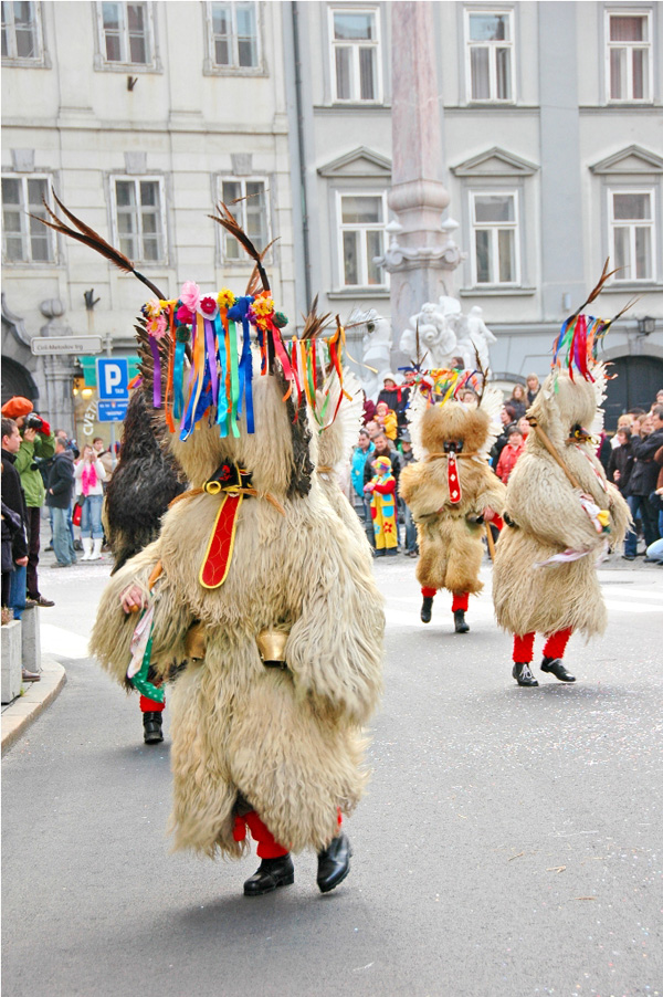 Kurent carnival figure in Ljubljana (Author-Dunja Wedam)