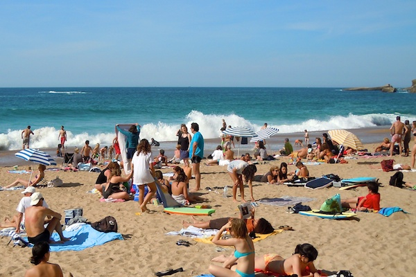 Waves & Beach, Beach and Casino, The Bay of Biscay, Biarritz France