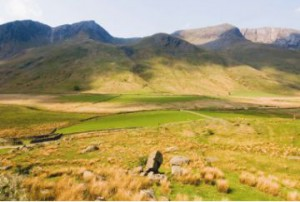 Beautiful scenery surrounds Pen-y-Pass