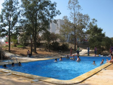 The Portimau Youth Hostel has a pool - perfect for keeping all those kids happy