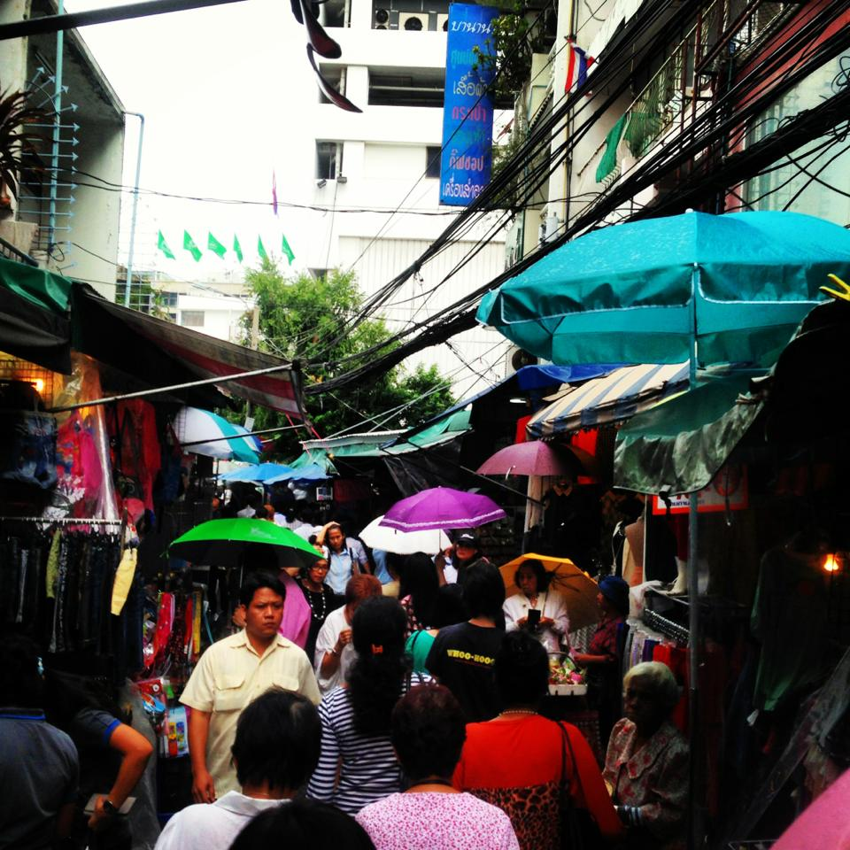 Pocket Money Market off Silom Soi 5 in Bangkok, Thailand