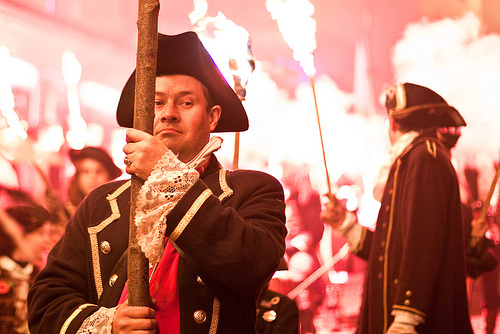 Parader at Lewes Bonfire and Fireworks Celebrations