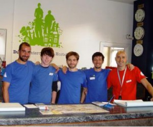 Dublin International Hostel front desk staff