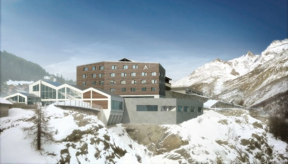 spa hostel opening in the Swiss Alps