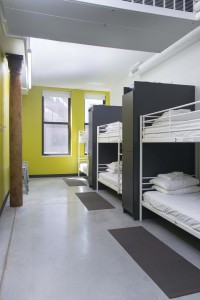 6-bed dorm room at HI-Boston