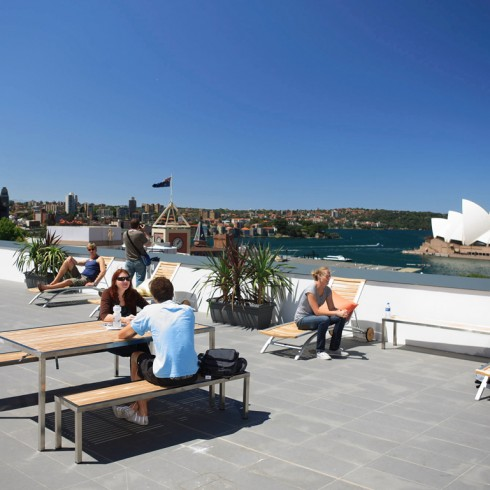Sydney Harbour YHA roof view