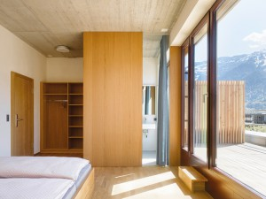 Bedroom with stunning views at Interlaken Youth Hostel