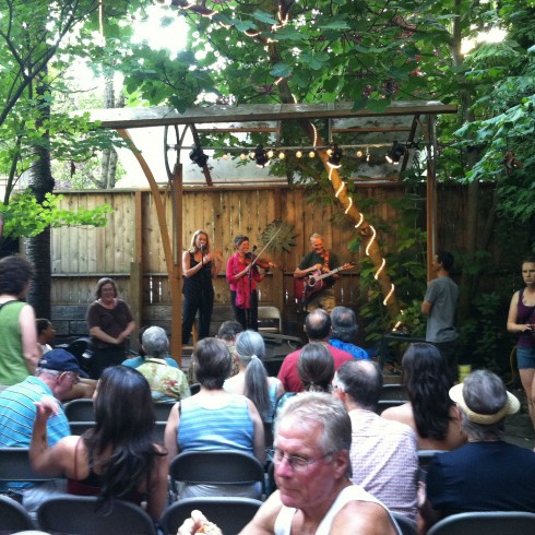 The Secret Garden gigs happen on the patio every Tuesday plus there's open mic sessions for the songbirds among you.