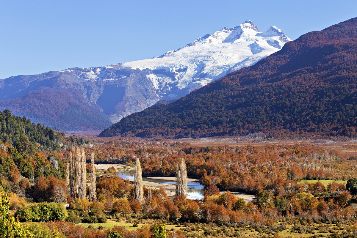 Beautiful views from HI Bariloche Hostel Inn, set right on the shores of Nahuel Huapi Lake, Patagonia.