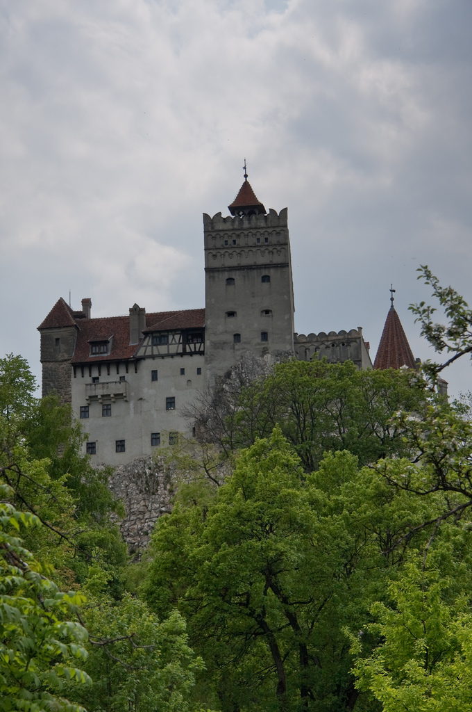Bran Castle from the gardens below