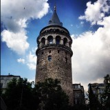 Galata tower in Beyoglu, Istanbul - with panoramic views of the city and the Bosphorus strait, which separates Europe and Asia