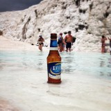Efes Pilsener - synonymous with beer in Turkey - at Pammukale