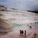 Pamukkale hot springs in south-western Turkey