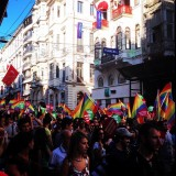 A protest in Istiklal