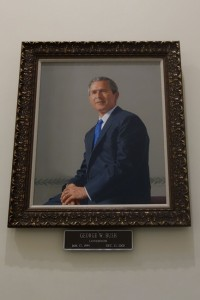 George W. Bush's portrait in the Capitol Building