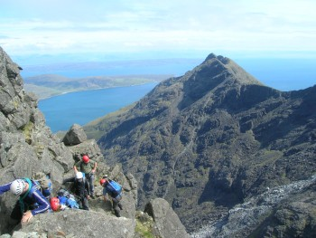 The Cuillin ridge on Skye.  Once a molten mass of rock in the Skye volcano magma chamber.  © Colin MacFadyen.