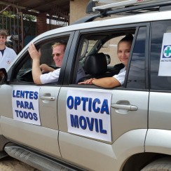 Transporting glasses to rural areas of Bolivia
