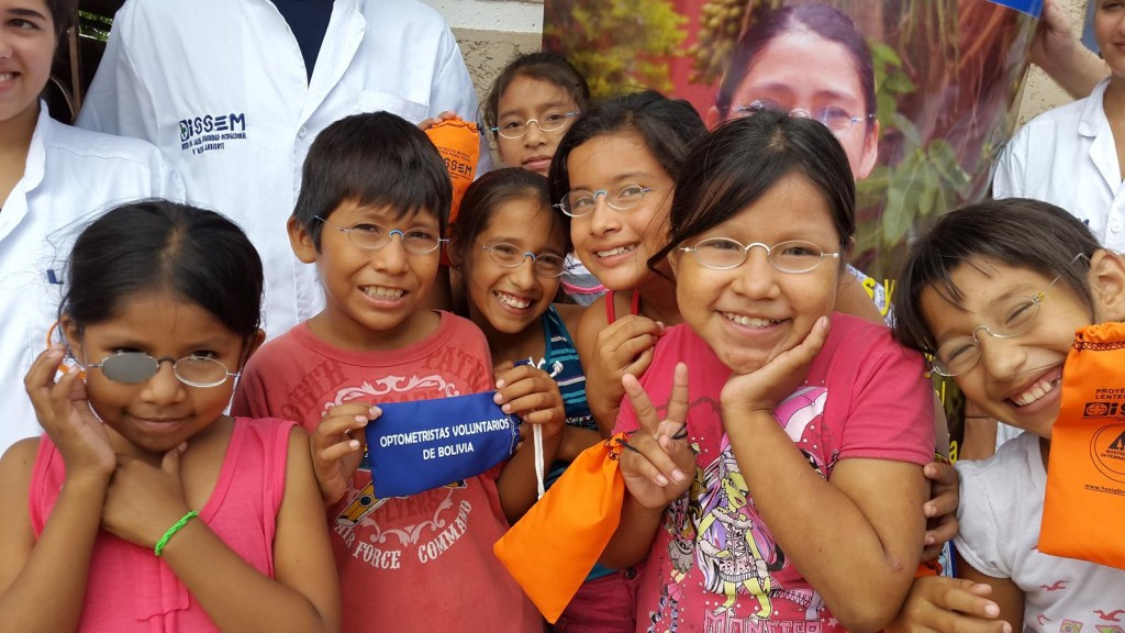 Happy with their new lenses: Glasses for all, Bolivia