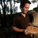 Stone baked pizza makes for the perfect BBQ at YHA Raglan Solscape