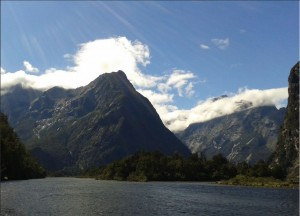 Sandfly point, Milford Track. Photo by Paty.