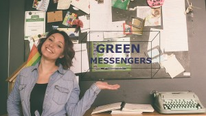 green messenger poster PURPLE (1 of 1)