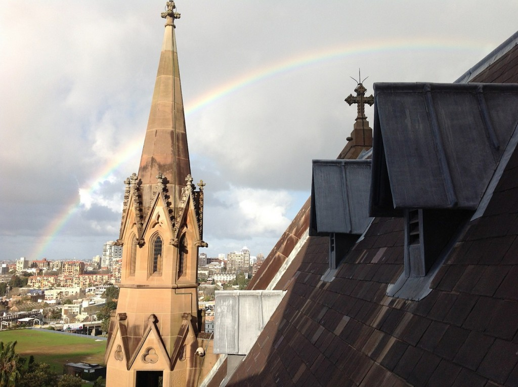 Rainbow over St Mary's Cathedral