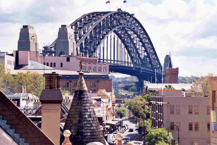 The Rocks precinct in Sydney
