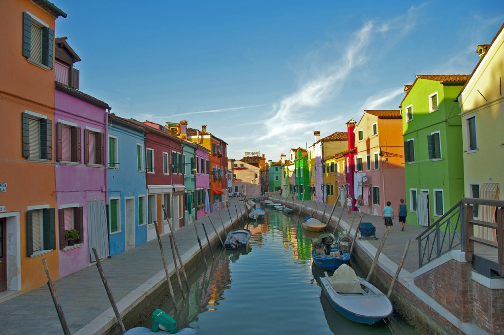 The colourful buildings of Burano