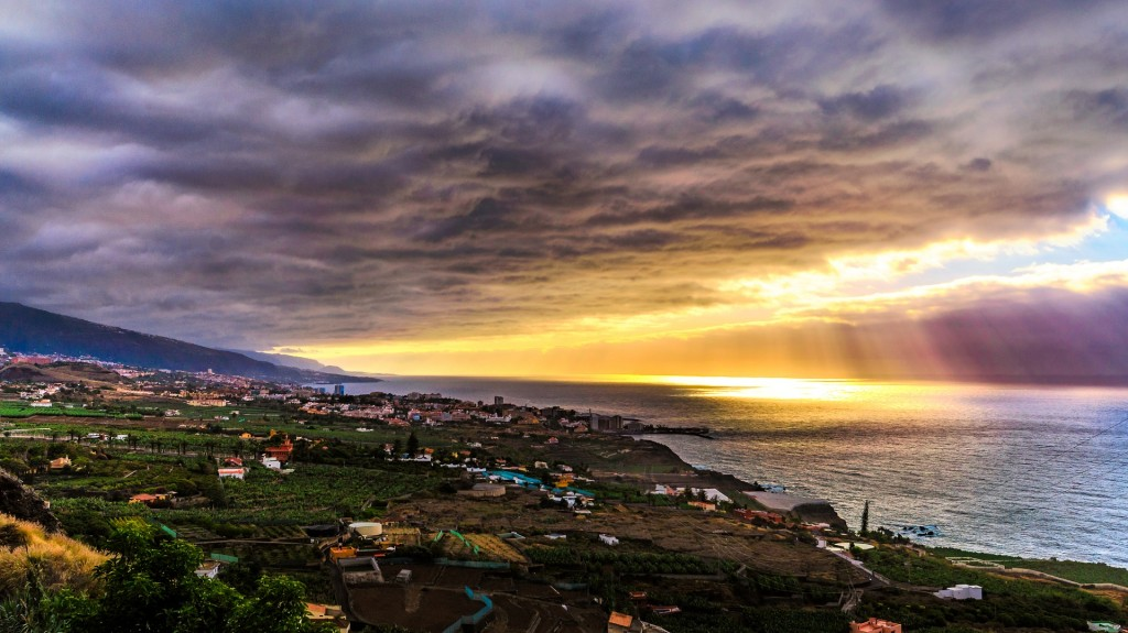Sunset over Tenerife