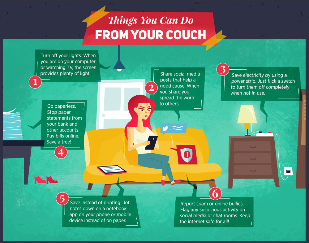 Things you can do from your couch