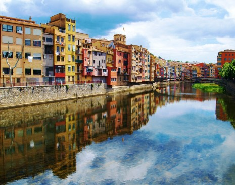 The colourful homes of Girona
