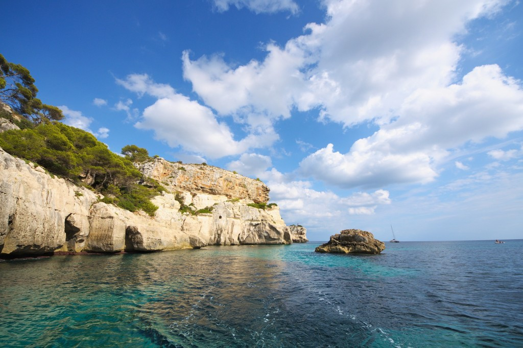 Turquoise waters of Menorca
