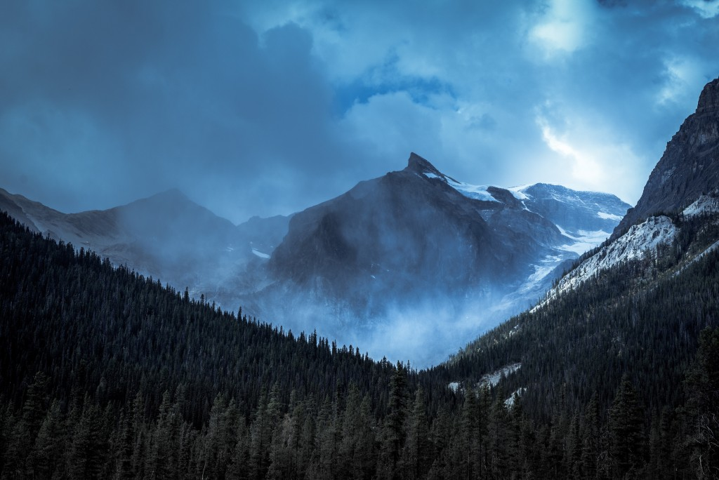 Misty, moody mountains Yoho Nat'l Park