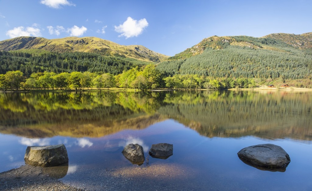 Loch Lubnaig situated in Loch Lomond & The Trossachs National Park