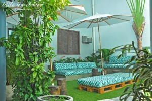 The Mango Tree's relaxing garden