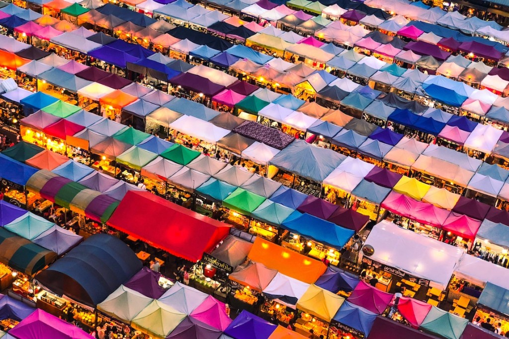 Aerial view of Chatuchak Market